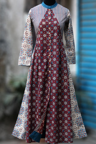 shirt dress - athansh & blooming mohur