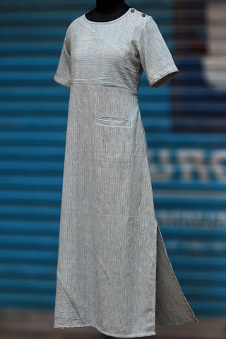 dress - khadi & indigo strings