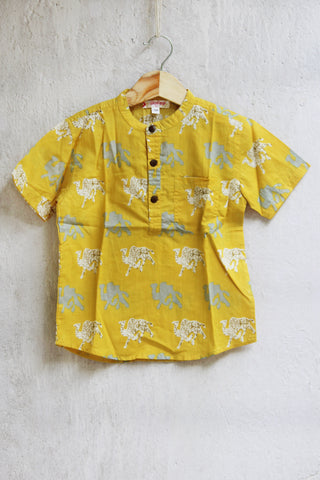 kidswear - yellow camel boys shirt