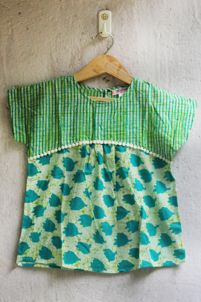 kidswear - green tunic top
