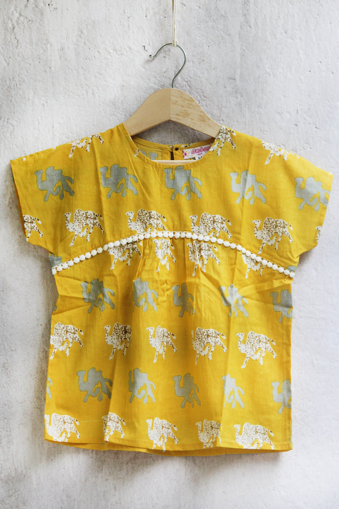 kidswear - yellow camel tunic top