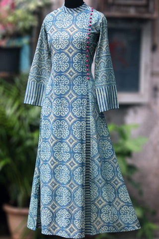 dress - mughal lattice & rose pop