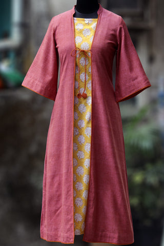 jacket & dress - tuscan sun & pink berry