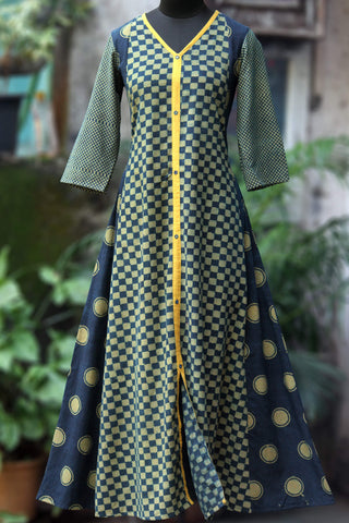 a-line dress - indigo medley & the yellow sun