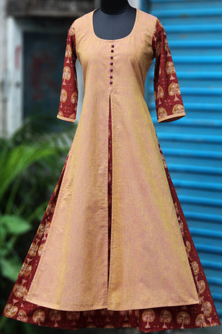 a-line anarkali - a fist of sand & brick