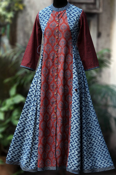 a-line dress with tie-ups - quill & the indigo lattice