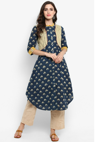 jacket + kurta - blue river & the happy fish