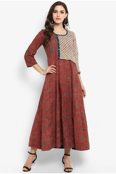flap yoke dress - madder & mogra