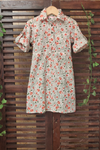 kidswear - tulip print shirt dress