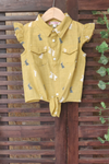kidswear - mustard knotted dress