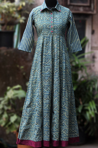 collar anarkali - minarets & the rose garden