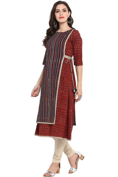 FRONT PANEL TIE-UP A-LINE DRESS - MONSOON WEDDING