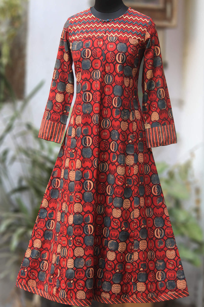 orchard a-line anarkali - ruby & ripples