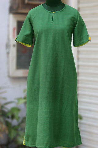 handwoven shift dress with pockets - emerald & lily