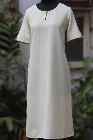 handwoven shift dress with pockets - chalk & cheer