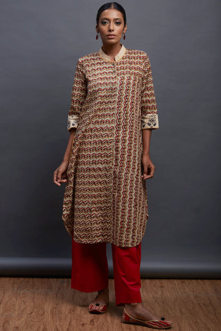 mandarin collar kurta - waves & wicker