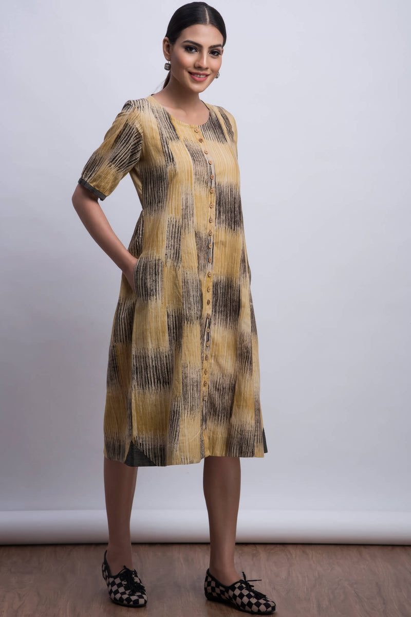 midi dress - ochre & mosaic