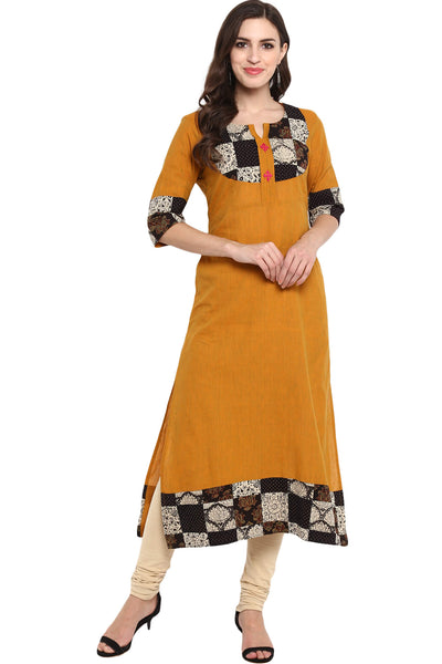LONG KURTA WITH PATCHWORK YOKE - SURAJ HUA MADHAM