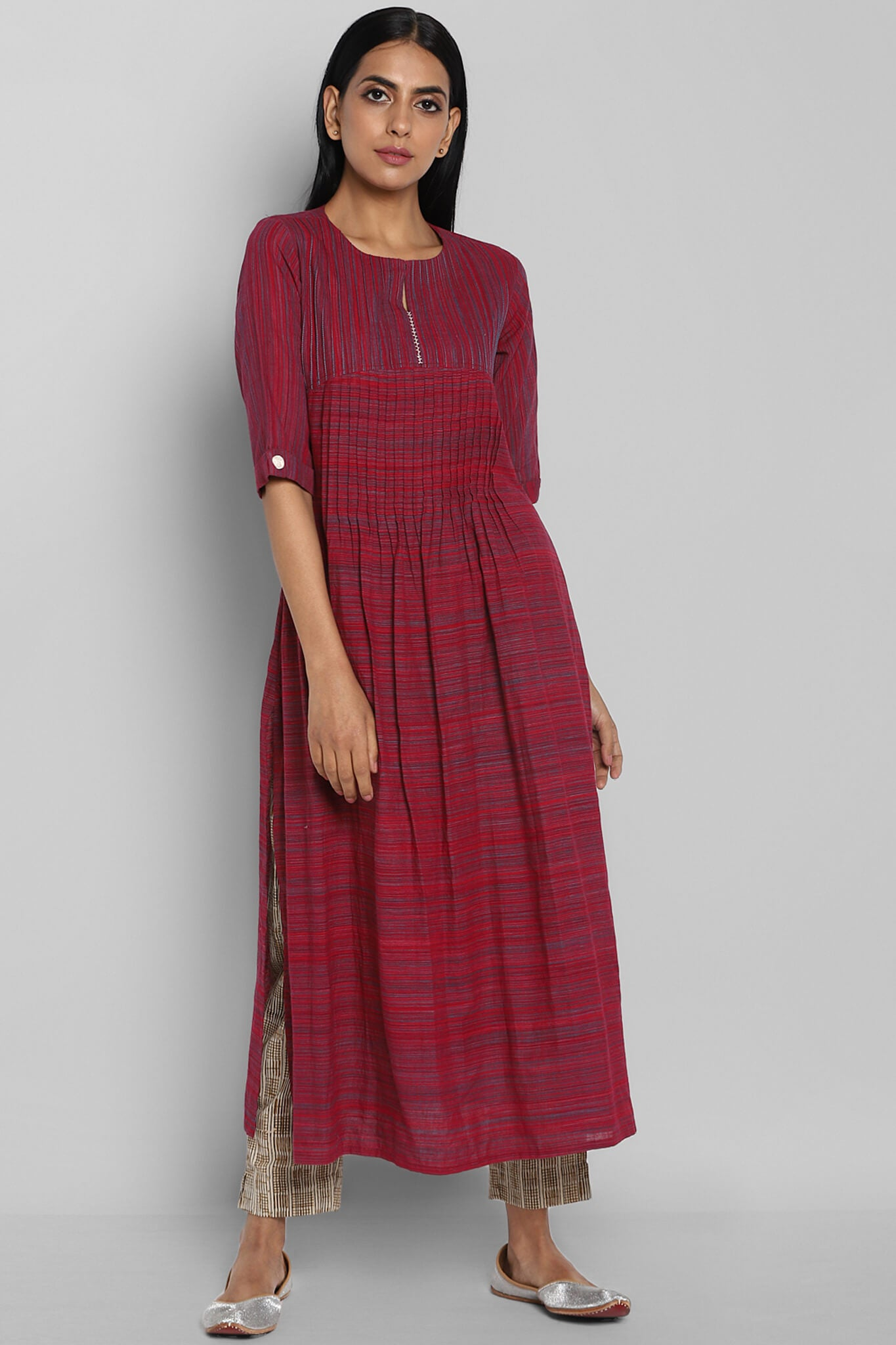 pintuck kurta - mulberry & rose kurta