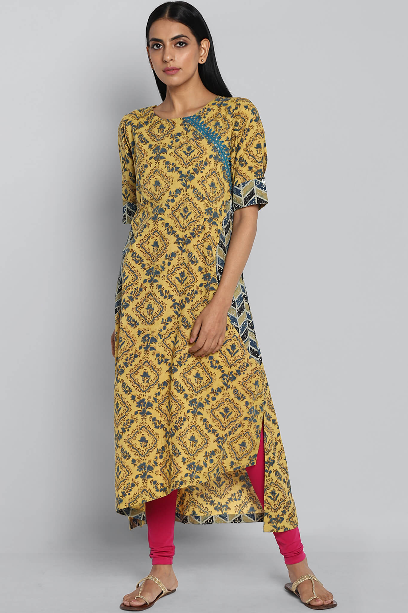 Half Moon Kurta - Summer & Cool Blue