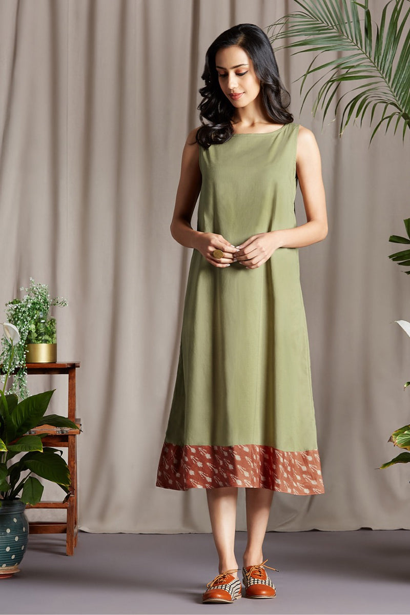 sleeveless dress - svelte sage