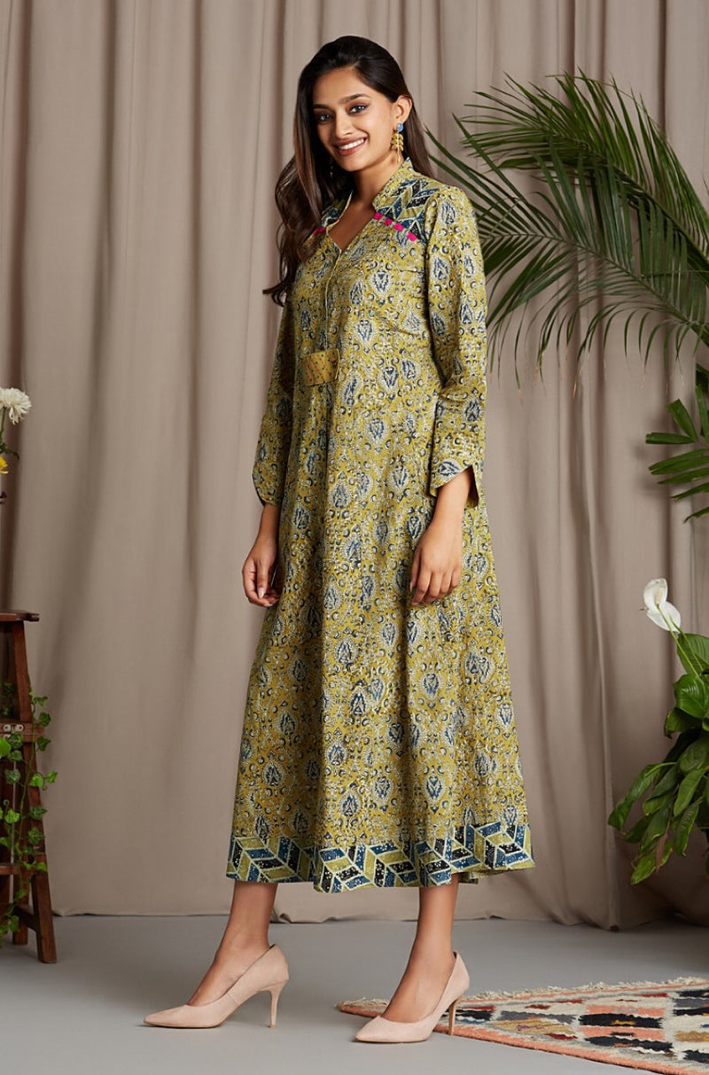 long dress - touch of sunshine & indigo sprinkles