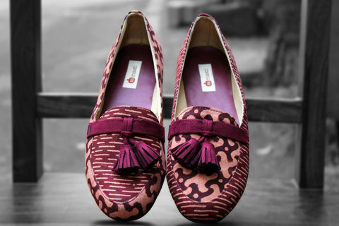 handcrafted footwear - terracotta & tassel loafers