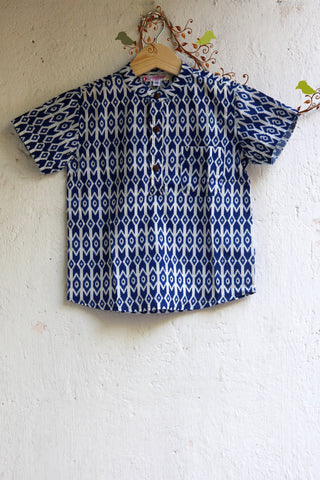 kidswear - blue boys shirt