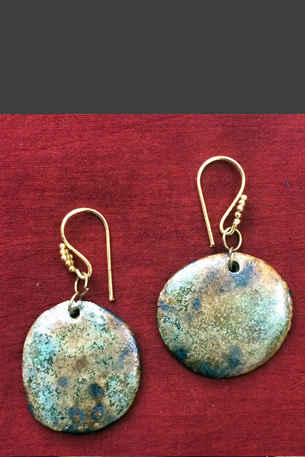 jewelry - ceramic - earth & speckles earring