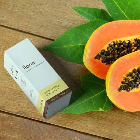 ILANA ORGANICS-  BRIGHTENING SKIN SERUM . PAPAYA + LEMON