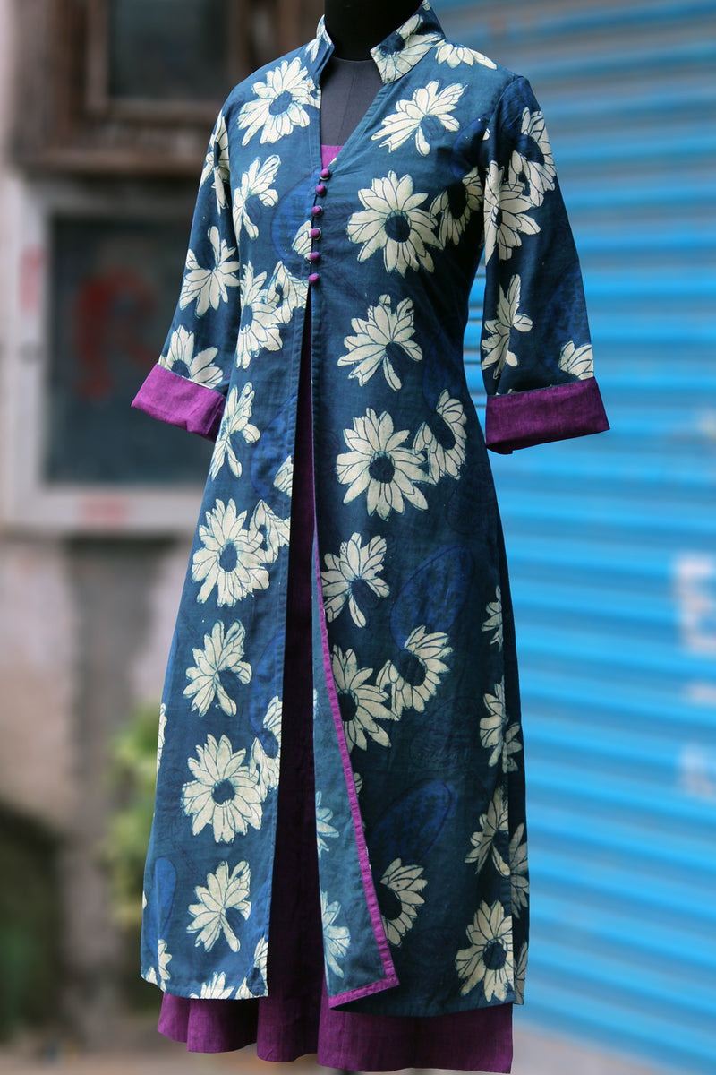 dress - indigo lotus & purple