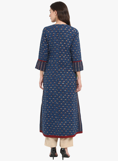 a-line anarkali - the big blue & the florets