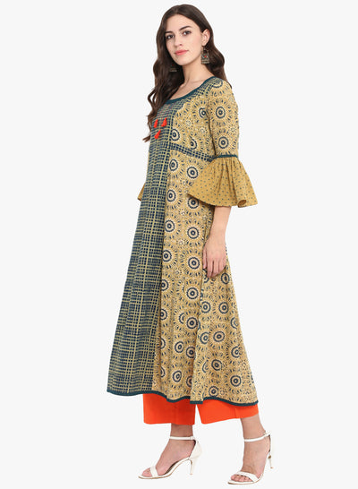ruffle sleeve anarkali - topaz & the gateway