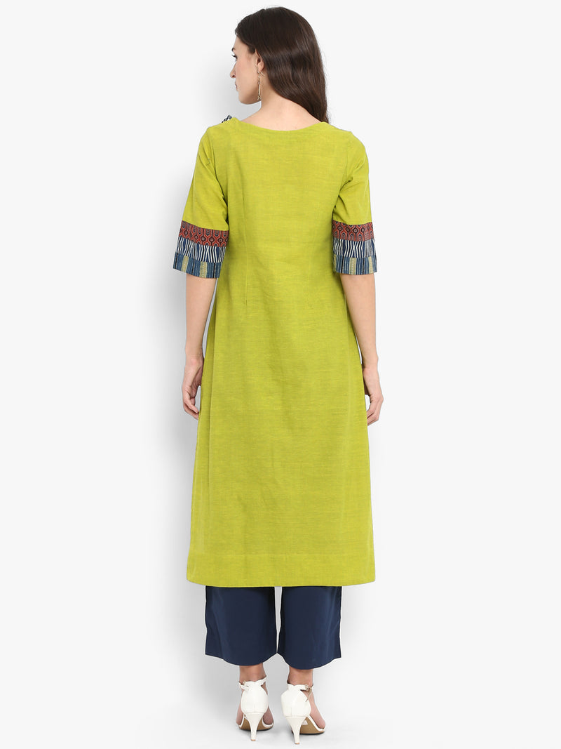 patchwork long kurta - sycamore by the river