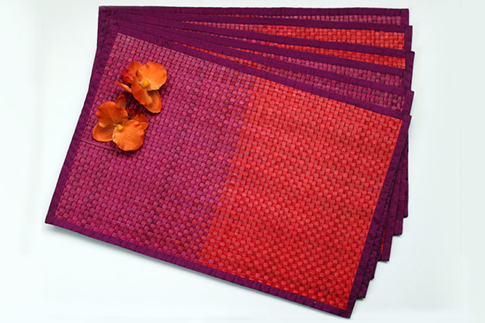 placemats - deep purple & pink (set of 6)