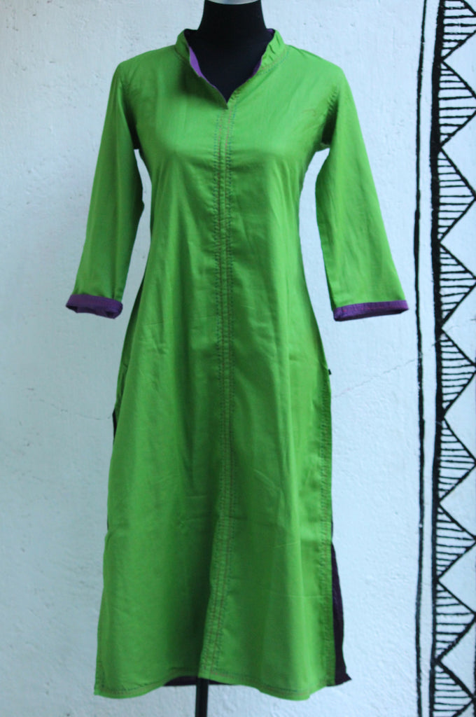 long-kurta-reversible-green-purple