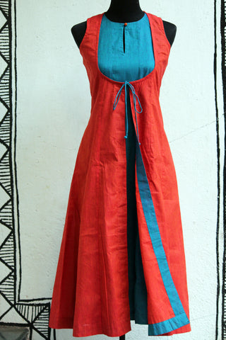 dress - aqua & sunset mangalgiri