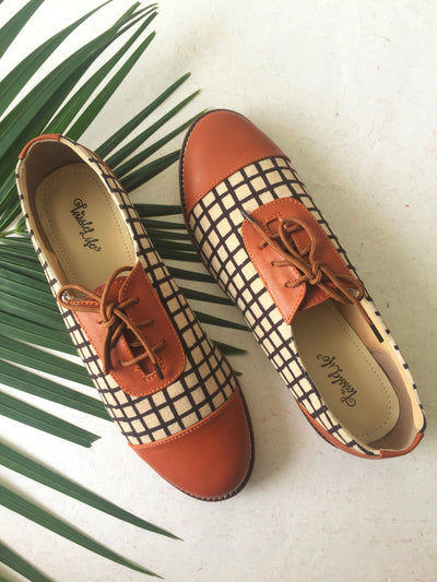 oxford - tan & checkers