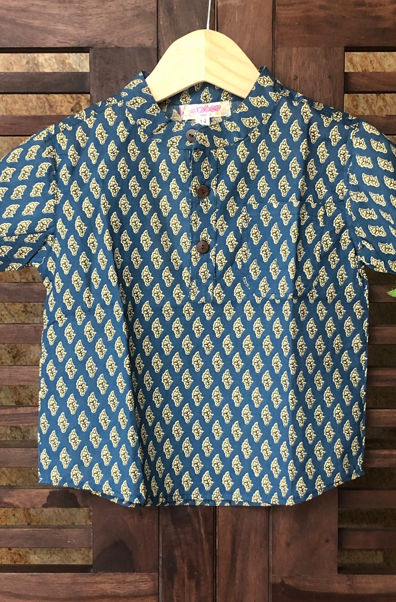 kidswear - blue small buti shirt
