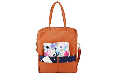 2AM by anjali & meha - blue heart panel handbag