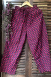 elasticated printed pants - magenta & circles