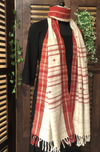 handwoven kotpad stole - kora & triangles