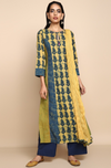 long kurta - indigo bloom & paisleys