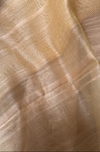 handwoven chanderi saree - chartreuse gold & copper buttis