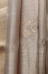 handwoven chanderi saree - burnt gold with silver acorns