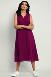 dress -  mauve & sleeveless