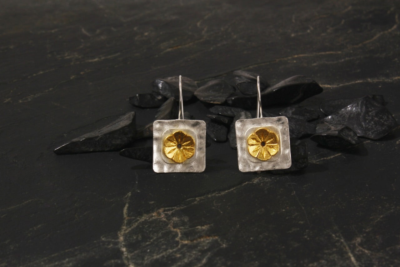 jewelry - berserk - gold silver plated geometric floral loops