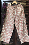 elasticated printed pants - beige & butti