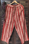 elasticated printed pants - madder & lines