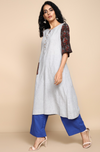 a-line tunic - ash grey & apple tree